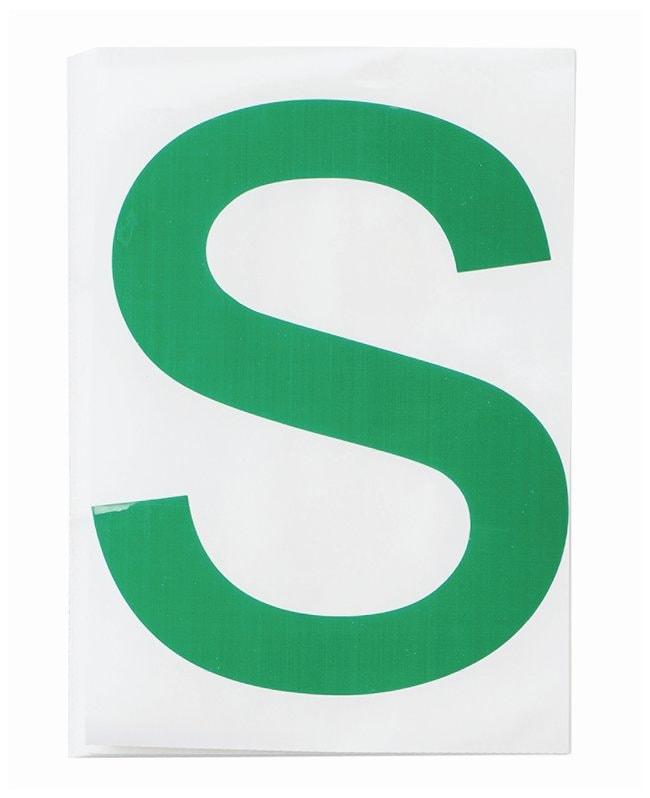 Brady ToughStripe Die-Cut Floor Marking Letter S Color: Green:Racks, Boxes,