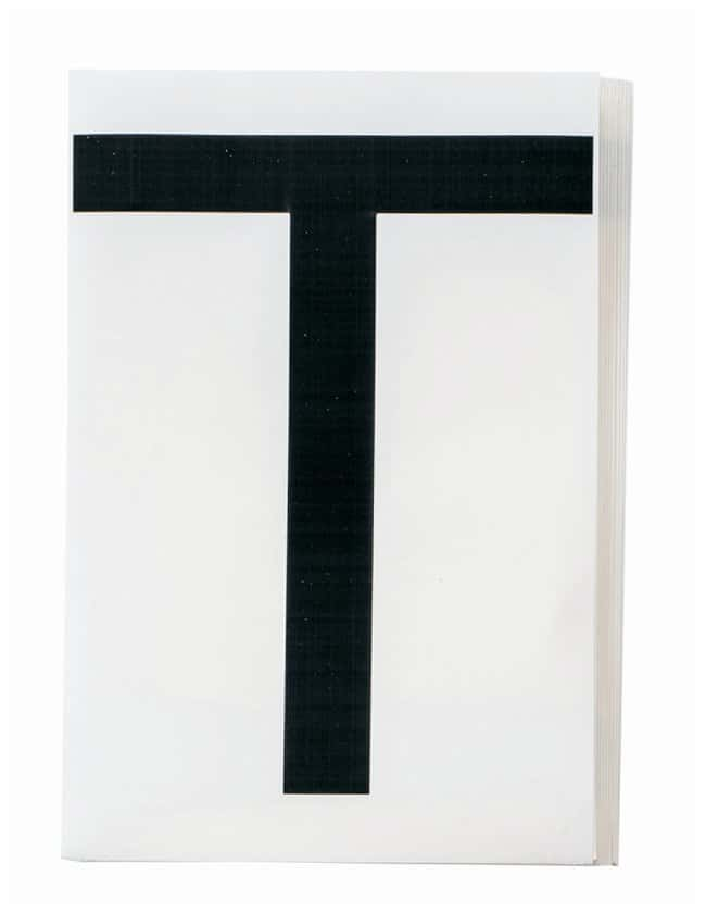 Brady ToughStripe Die-Cut Floor Marking Letter T Color: Black:Racks, Boxes,