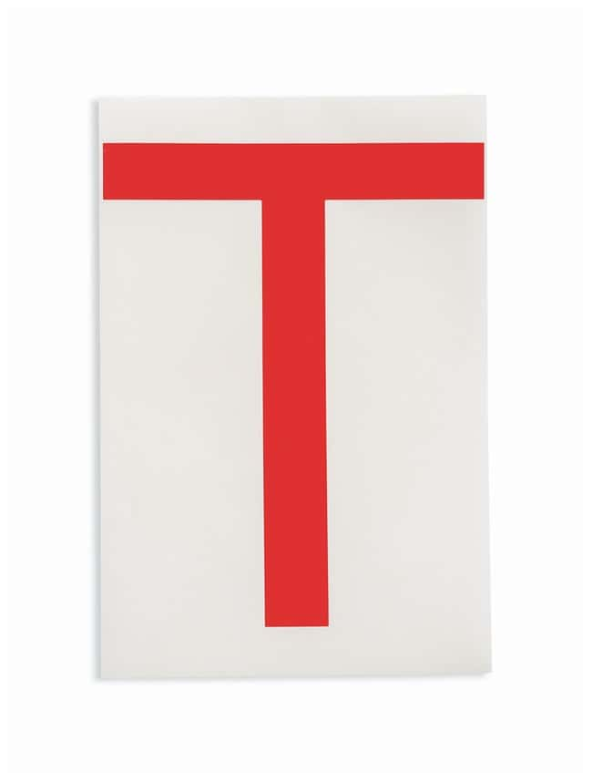 Brady ToughStripe Die-Cut Floor Marking Letter T Color: Red:Racks, Boxes,