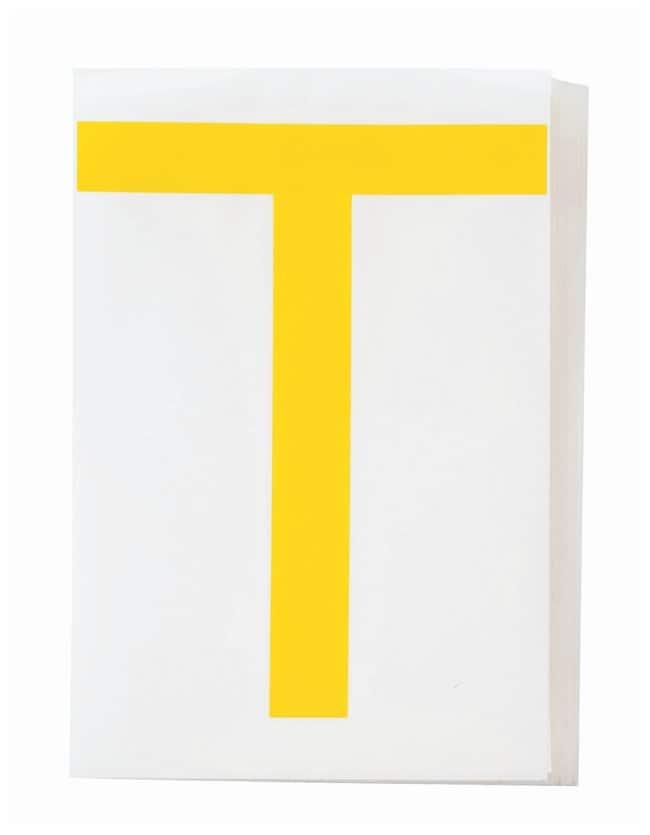 Brady ToughStripe Die-Cut Floor Marking Letter T Color: Yellow:Racks, Boxes,
