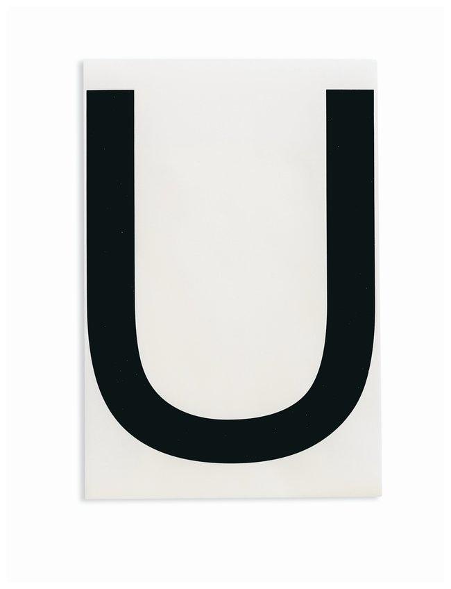 Brady ToughStripe Die-Cut Floor Marking Letter U Color: Black:Racks, Boxes,