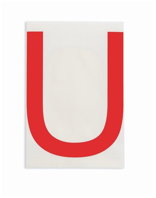 Brady ToughStripe Die-Cut Floor Marking Letter U:Racks, Boxes, Labeling