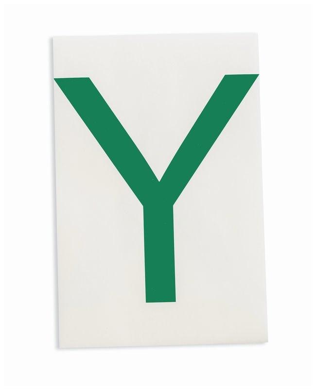 Brady ToughStripe Die-Cut Floor Marking Letter Y Color: Green:Racks, Boxes,