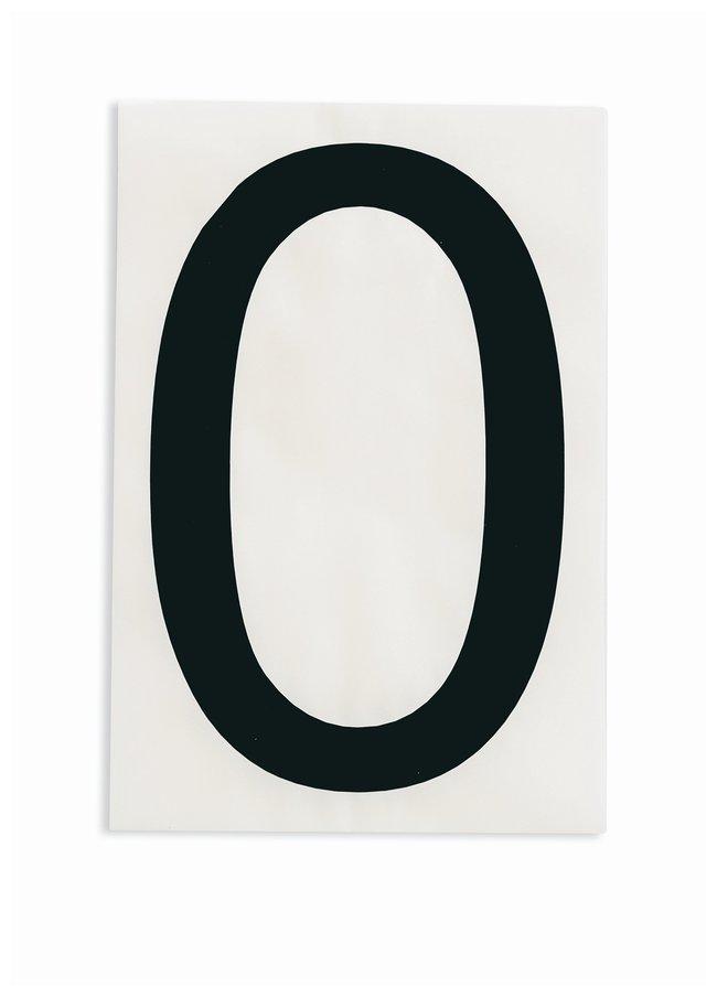 Brady ToughStripe Die-Cut Floor Marking Number 0 Color: Black:Racks, Boxes,