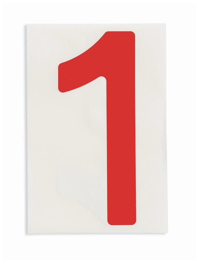 Brady ToughStripe Die-Cut Floor Marking Number 1 Color: Red:Racks, Boxes,