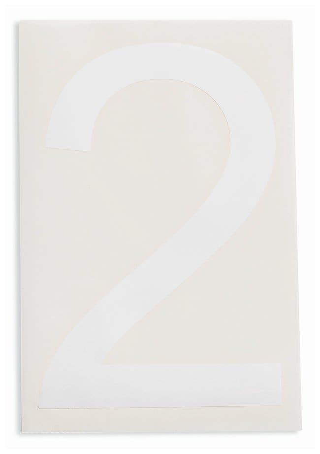 Brady ToughStripe Die-Cut Floor Marking Number 2 Color: White:Racks, Boxes,