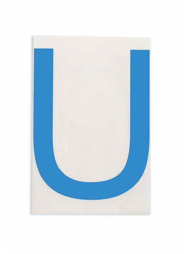 Brady ToughStripe Die-Cut Floor Marking Letter U Color: Blue:Racks, Boxes,