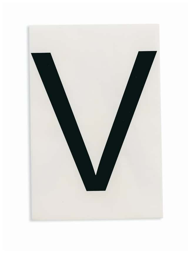 Brady ToughStripe Die-Cut Floor Marking Letter V Color: Black:Racks, Boxes,