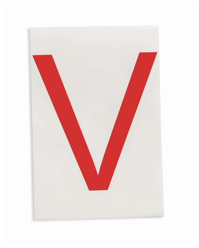 Brady ToughStripe Die-Cut Floor Marking Letter V Color: Red:Racks, Boxes,