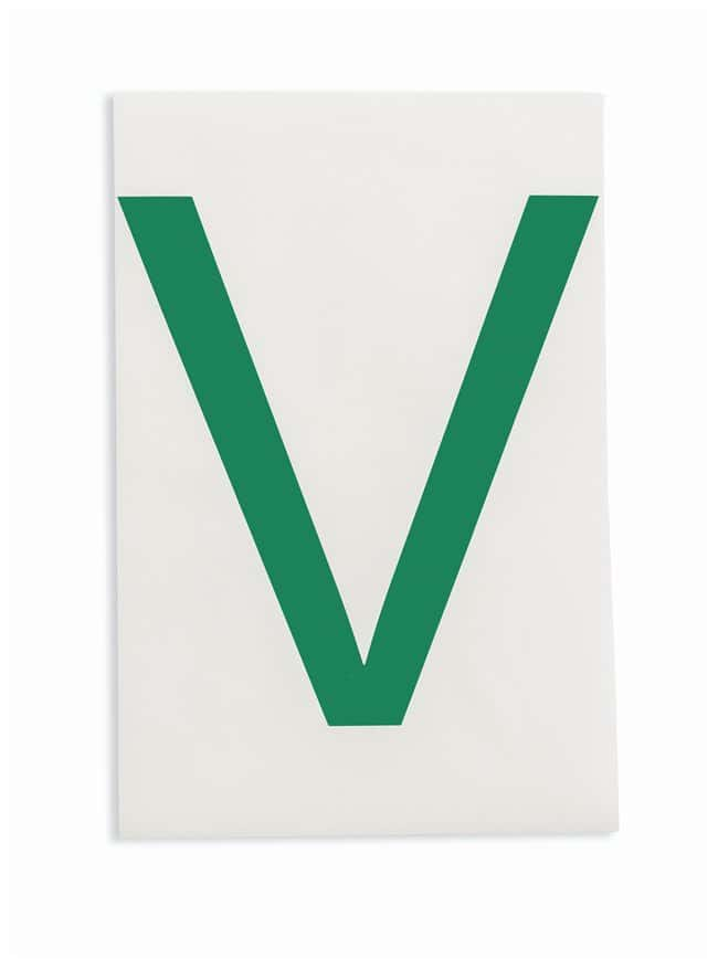 Brady ToughStripe Die-Cut Floor Marking Letter V Color: Green:Racks, Boxes,