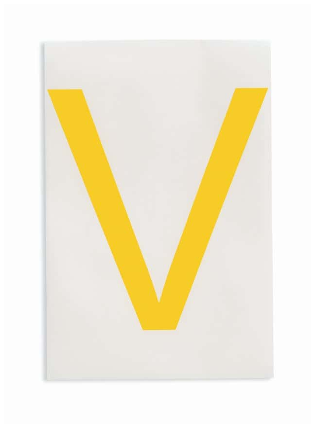 Brady ToughStripe Die-Cut Floor Marking Letter V Color: Yellow:Racks, Boxes,