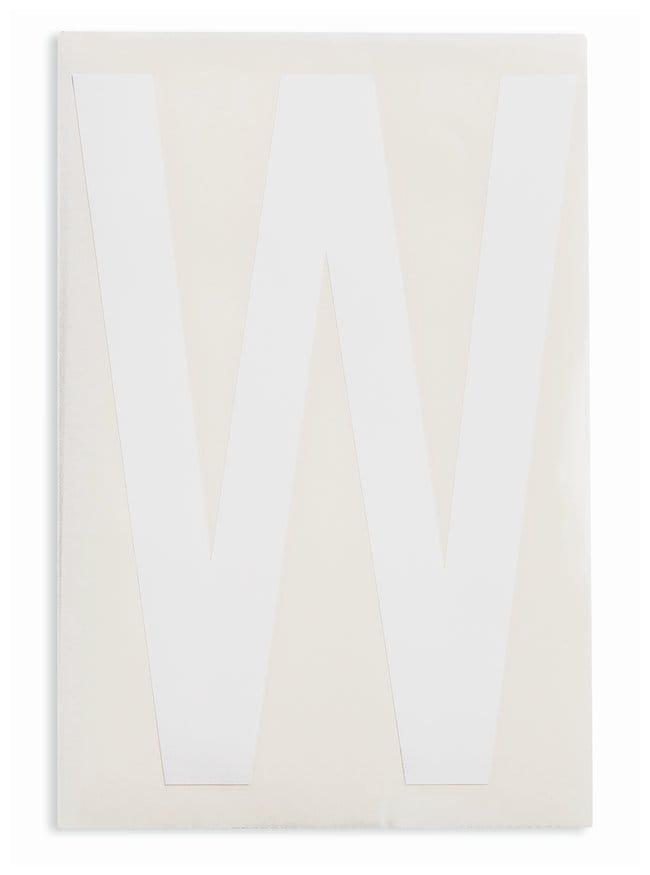 Brady ToughStripe Die-Cut Floor Marking Letter W Color: White:Racks, Boxes,