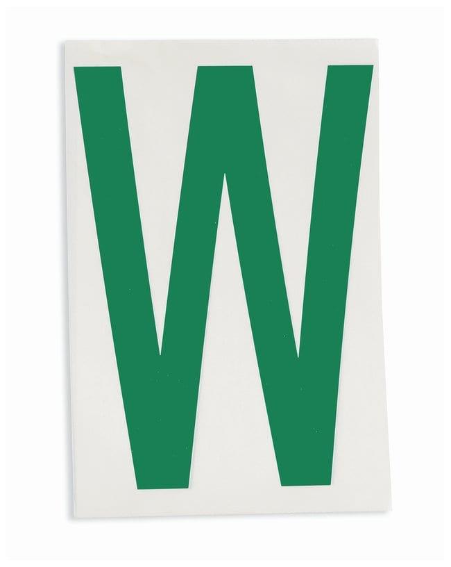 Brady ToughStripe Die-Cut Floor Marking Letter W Color: Green:Racks, Boxes,
