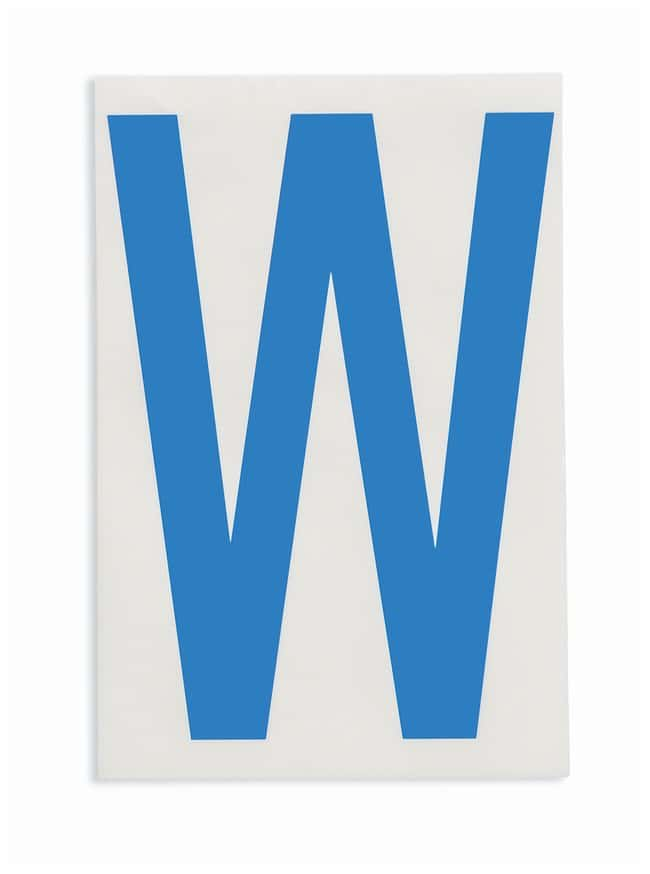 Brady ToughStripe Die-Cut Floor Marking Letter W Color: Blue:Racks, Boxes,