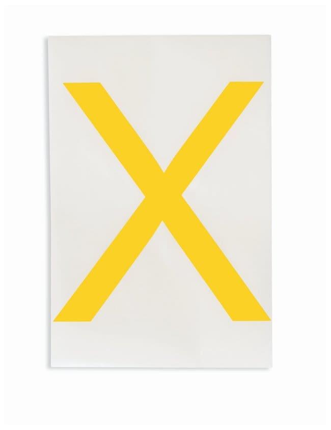 Brady ToughStripe Die-Cut Floor Marking Letter X:Racks, Boxes, Labeling