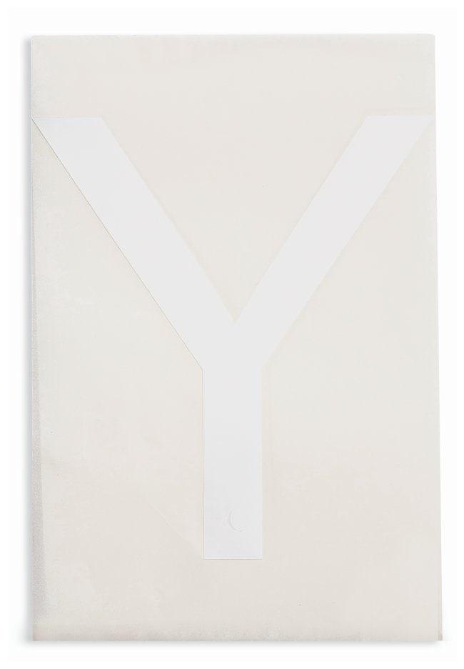 Brady ToughStripe Die-Cut Floor Marking Letter Y Color: White:Racks, Boxes,