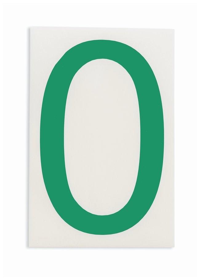 Brady ToughStripe Die-Cut Floor Marking Number 0 Color: Green:Racks, Boxes,