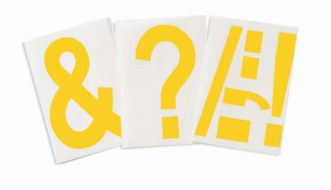 Brady ToughStripe Die-Cut Floor Marking Punctuation Set Color: Yellow:Racks,