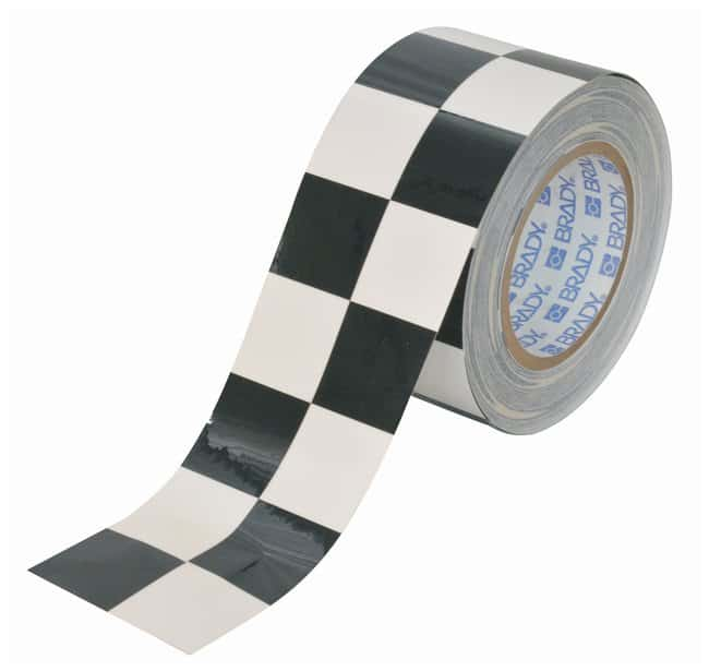 Brady ToughStripe Checkered Floor Marking Tapes Color: Black/White; L x