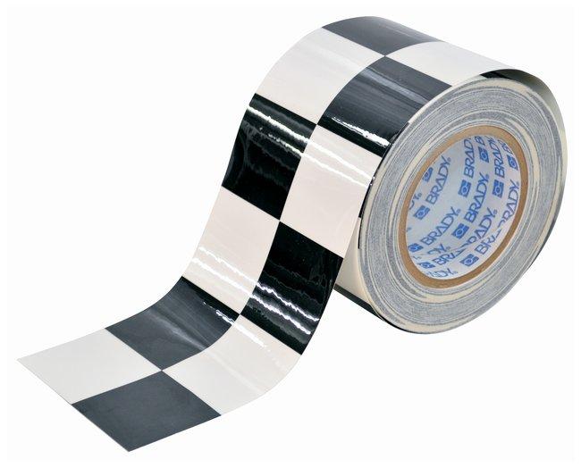 Brady ToughStripe Checkered Floor Marking Tapes Color: Black/White; L x