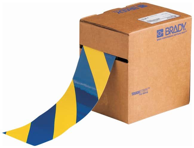 Brady ToughStripe Striped Floor Marking Tapes Color: Yellow/Blue; L x W: