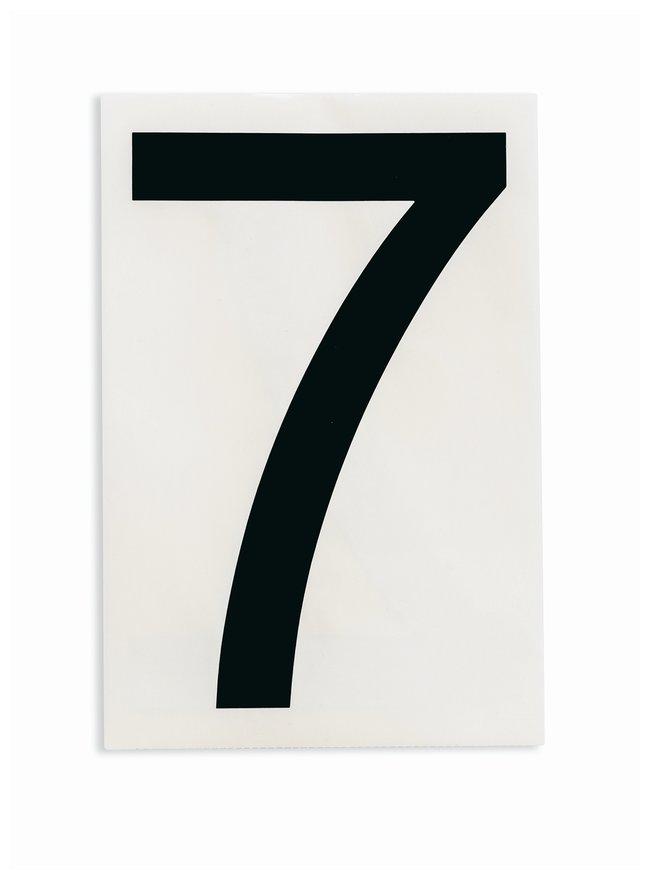 Brady ToughStripe Die-Cut Floor Marking Number 7 Color: Black:Racks, Boxes,