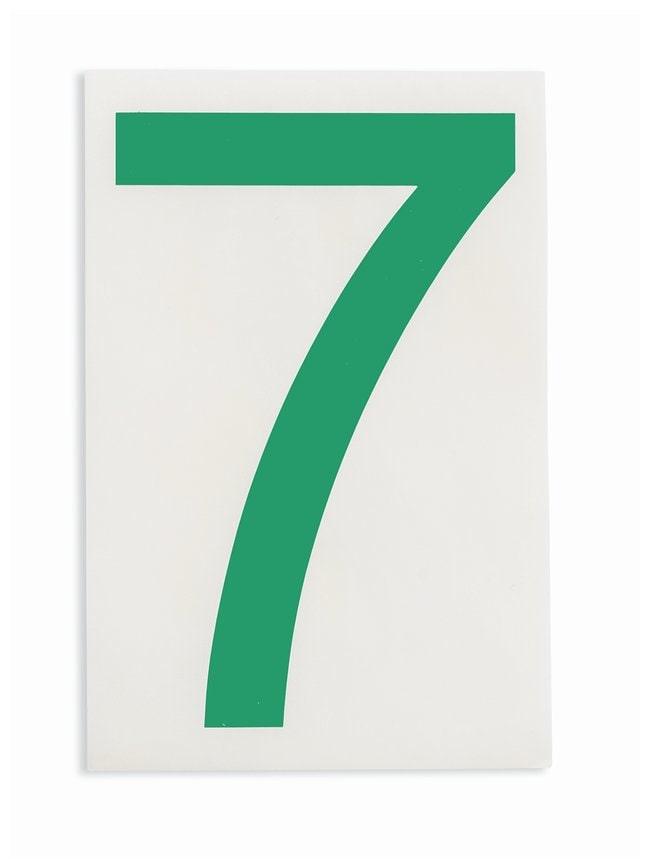 Brady ToughStripe Die-Cut Floor Marking Number 7 Color: Green:Racks, Boxes,