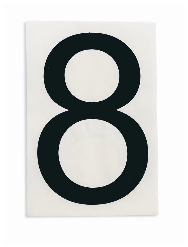 Brady ToughStripe Die-Cut Floor Marking Number 8 Color: Black:Racks, Boxes,