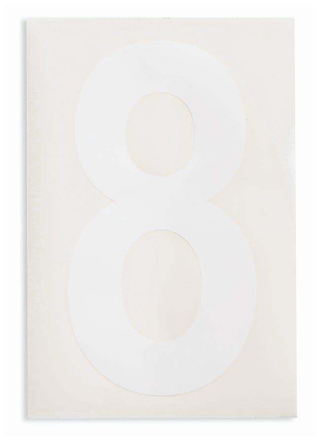 Brady ToughStripe Die-Cut Floor Marking Number 8 Color: White:Racks, Boxes,