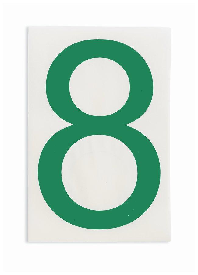 Brady ToughStripe Die-Cut Floor Marking Number 8 Color: Green:Racks, Boxes,