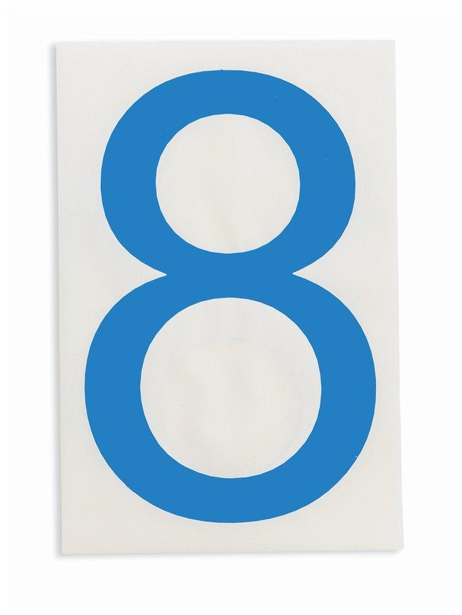 Brady ToughStripe Die-Cut Floor Marking Number 8 Color: Blue:Racks, Boxes,