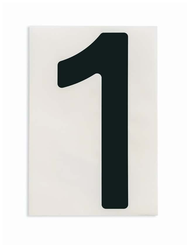 Brady ToughStripe Die-Cut Floor Marking Number 1 Color: Black:Racks, Boxes,
