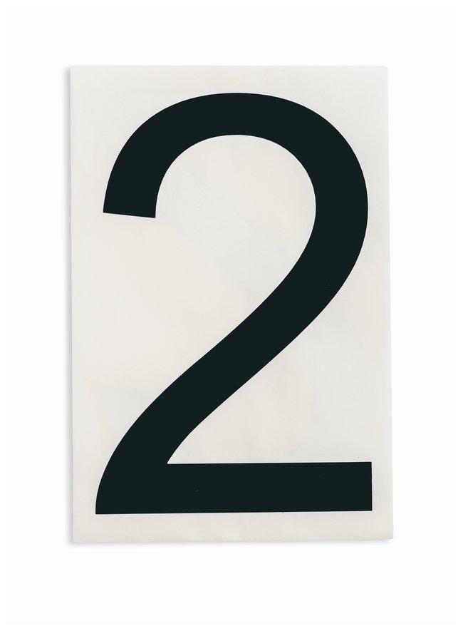 Brady ToughStripe Die-Cut Floor Marking Number 2:Racks, Boxes, Labeling