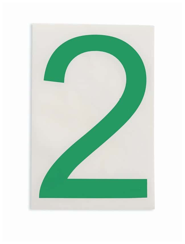 Brady ToughStripe Die-Cut Floor Marking Number 2 Color: Green:Racks, Boxes,
