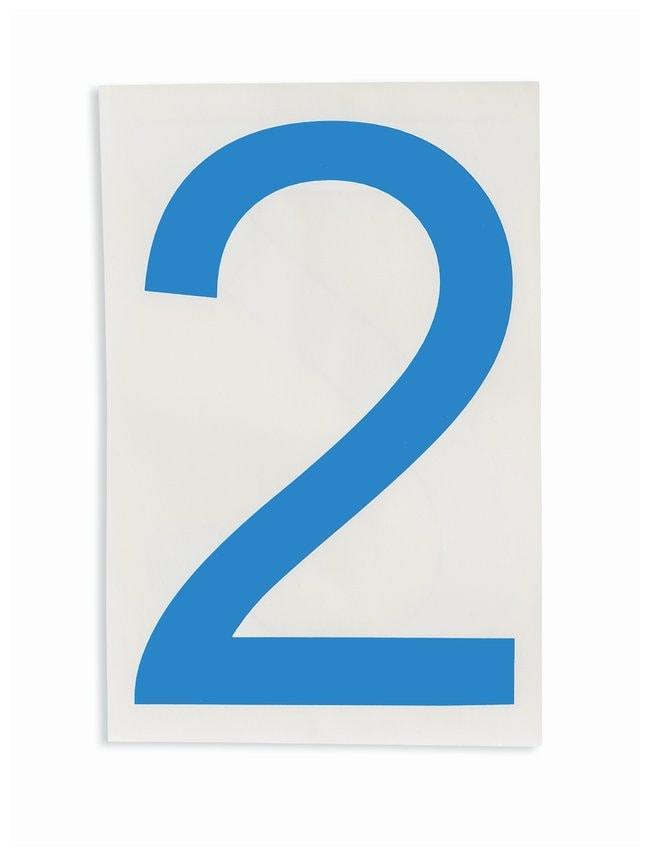 Brady ToughStripe Die-Cut Floor Marking Number 2 Color: Blue:Racks, Boxes,