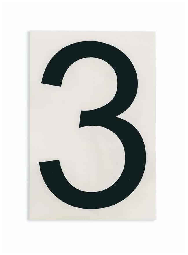 Brady ToughStripe Die-Cut Floor Marking Number 3 Color: Black:Racks, Boxes,
