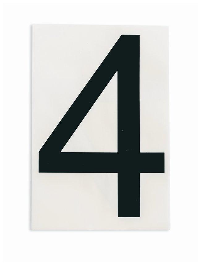 Brady ToughStripe Die-Cut Floor Marking Number 4 Color: Black:Racks, Boxes,