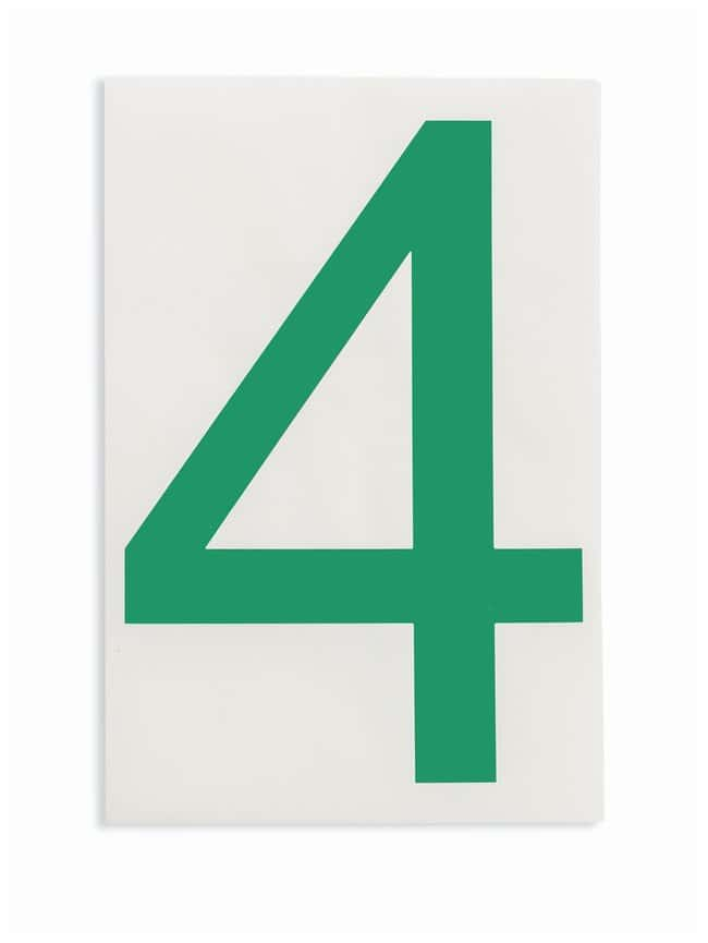 Brady ToughStripe Die-Cut Floor Marking Number 4 Color: Green:Racks, Boxes,