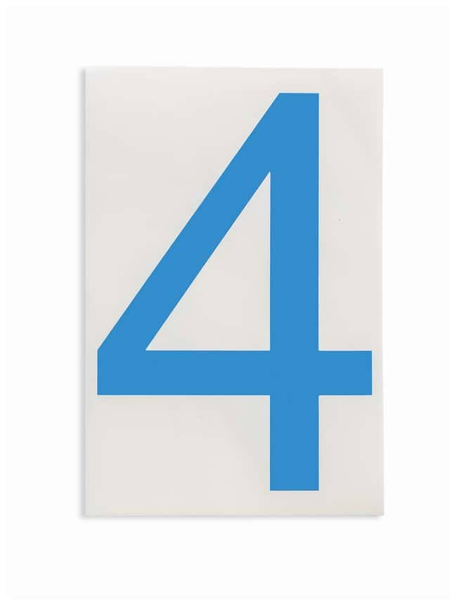 Brady ToughStripe Die-Cut Floor Marking Number 4 Color: Blue:Racks, Boxes,