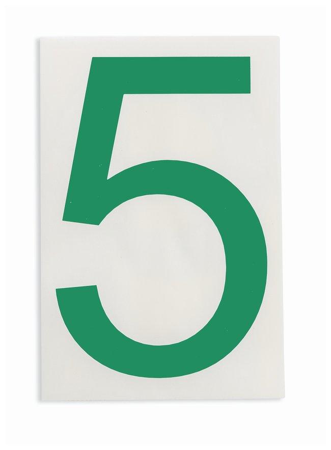 Brady ToughStripe Die-Cut Floor Marking Number 5 Color: Green:Racks, Boxes,