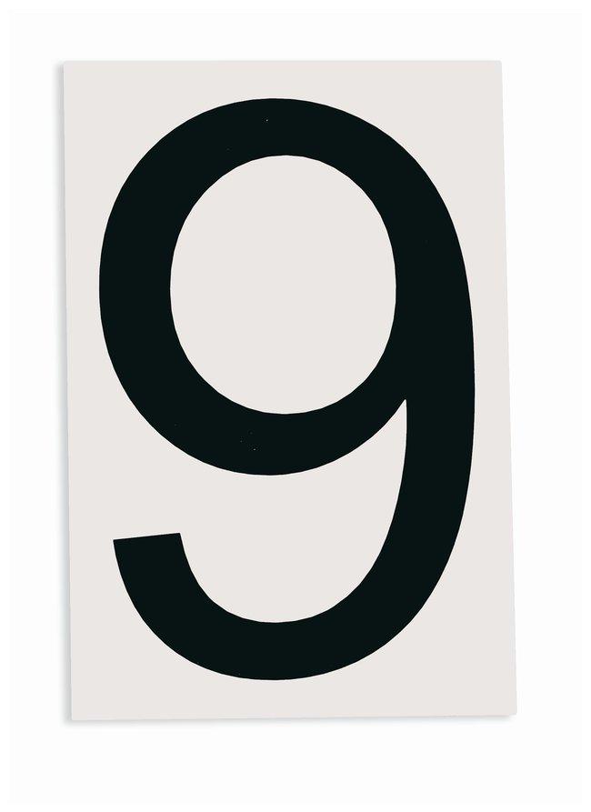 Brady ToughStripe Die-Cut Floor Marking Number 9 Color: Black:Racks, Boxes,