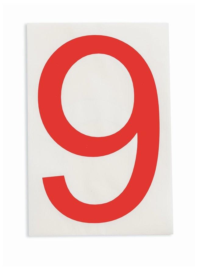 Brady ToughStripe Die-Cut Floor Marking Number 9 Color: Red:Racks, Boxes,