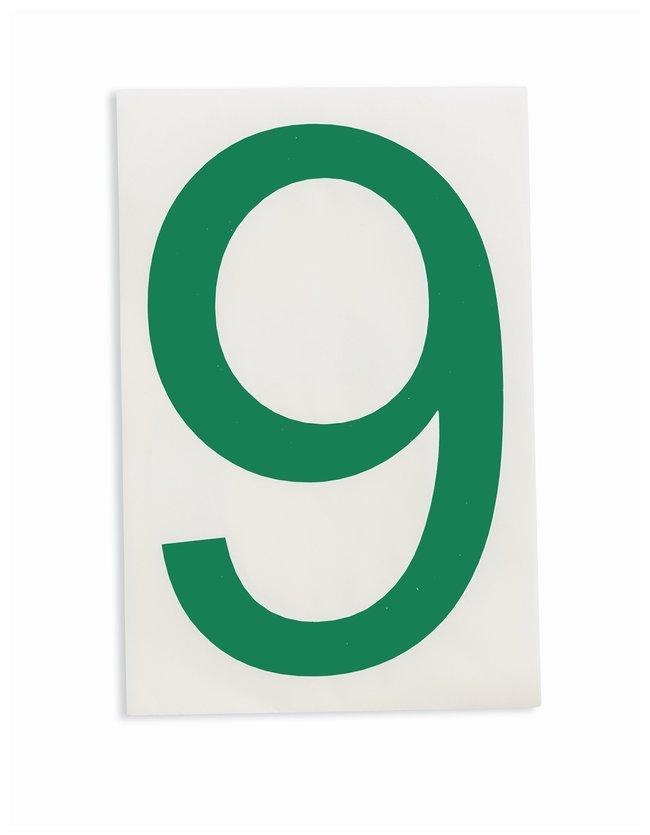 Brady ToughStripe Die-Cut Floor Marking Number 9 Color: Green:Racks, Boxes,