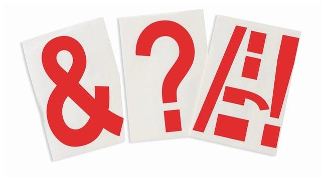 Brady ToughStripe Die-Cut Floor Marking Punctuation Set Color: Red:Racks,