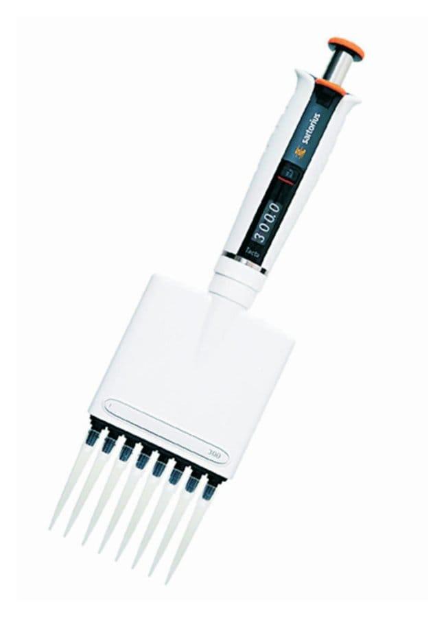 Sartorius™Tacta Mechanical Pipettes Channels: 8; Color code: Orange; Volume range: 30 - 300μL Products