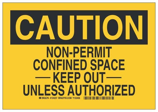 Brady Sign: NON-PERMIT CONFINED SPACE -----KEEP OUT----- UNLESS AUTHORIZED