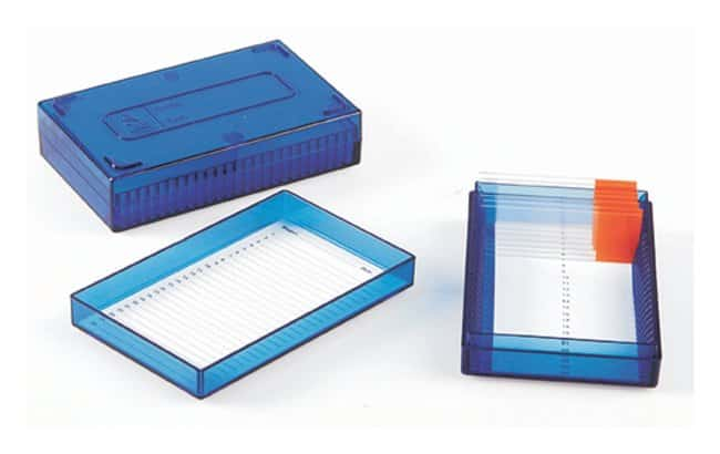 Heathrow Scientific™True North™ Microscope Slide Box Polycarbonate 25-Place, Blue