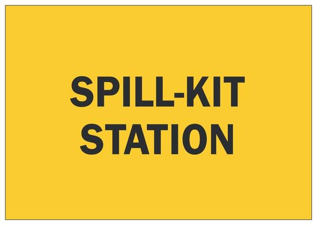 Brady Sign: SPILL KIT STATION:Gloves, Glasses and Safety:Facility Maintenance