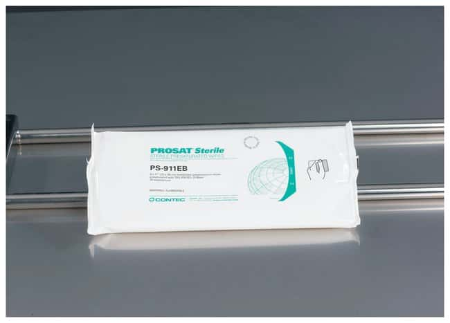 Contec PROSAT Sterile Presaturated Nonwoven Wipes:Gloves, Glasses and Safety:Controlled