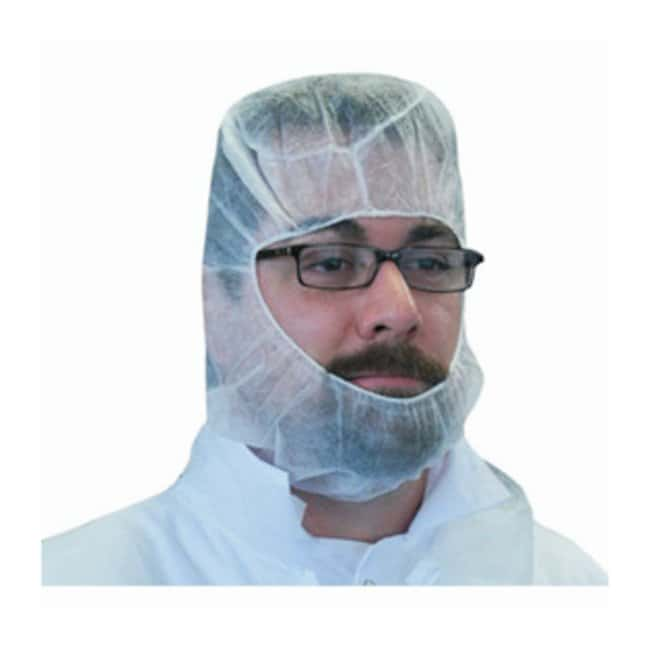 Keystone Polypropylene Hoods White; Universal size:Gloves, Glasses and